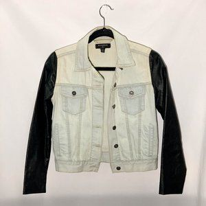 By Corpus (UO) denim/faux leather jacket - size xs